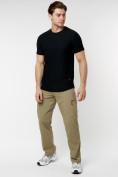 Оптом Однотонная футболка черного цвета 221063Ch в Екатеринбурге, фото 5