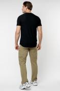 Оптом Однотонная футболка черного цвета 221063Ch в Екатеринбурге, фото 7