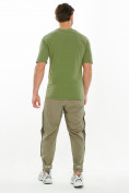 Оптом Костюм штаны с футболкой хаки цвета 221117Kh, фото 3