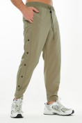 Оптом Костюм штаны с футболкой хаки цвета 221117Kh, фото 4
