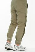 Оптом Костюм штаны с футболкой хаки цвета 221117Kh, фото 5