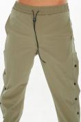 Оптом Костюм штаны с футболкой хаки цвета 221117Kh, фото 6