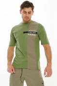 Оптом Костюм штаны с футболкой хаки цвета 221117Kh, фото 7
