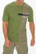 Оптом Костюм штаны с футболкой хаки цвета 221117Kh, фото 8