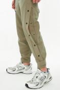 Оптом Костюм штаны с футболкой хаки цвета 221117Kh, фото 9