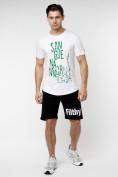 Оптом Мужская футболка с надписью белого цвета 221146Bl в Екатеринбурге, фото 5
