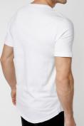 Оптом Мужская футболка с надписью белого цвета 221146Bl в Екатеринбурге, фото 4