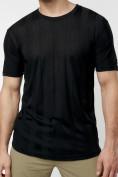 Оптом Однотонная футболка черного цвета 221411Ch в Екатеринбурге, фото 5