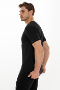 Оптом Мужские футболки с принтом черного цвета 221414Ch в Екатеринбурге, фото 3