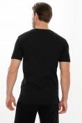 Оптом Мужские футболки с принтом черного цвета 221414Ch в Екатеринбурге, фото 4