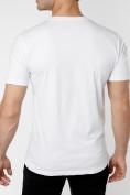 Оптом Мужские футболки с принтом белого цвета 221418Bl в Екатеринбурге, фото 4