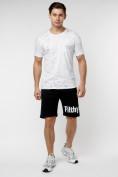 Оптом Мужская футболка с надписью  белого цвета 221485Bl в Екатеринбурге, фото 6