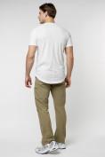 Оптом Мужская футболка однотонная белого цвета 221487Bl в Екатеринбурге, фото 6