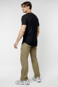 Оптом Мужская футболка однотонная черного цвета 221487Ch в Екатеринбурге, фото 4