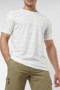 Оптом Мужская футболка однотонная белого цвета 221488Bl в Екатеринбурге