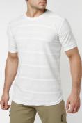 Оптом Мужская футболка однотонная белого цвета 221488Bl в Екатеринбурге, фото 6