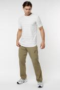 Оптом Мужская футболка однотонная белого цвета 221488Bl в Екатеринбурге, фото 3