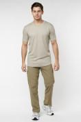 Оптом Мужская футболка в сетку бежевого цвета 221490B в Екатеринбурге, фото 2