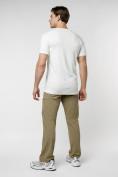 Оптом Мужская футболка в сетку белого цвета 221490Bl в Екатеринбурге, фото 4