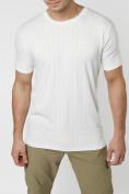 Оптом Мужская футболка в сетку белого цвета 221490Bl в Екатеринбурге, фото 5
