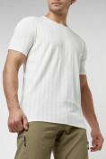 Оптом Мужская футболка в сетку белого цвета 221490Bl в Екатеринбурге, фото 6