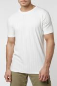 Оптом Мужская футболка в сетку белого цвета 221490Bl в Екатеринбурге, фото 7
