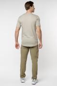 Оптом Мужская футболка в сетку бежевого цвета 221490B в Екатеринбурге, фото 5