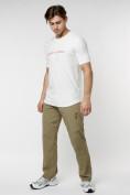 Оптом Мужская футболка с надписью белого цвета 222006Bl в Екатеринбурге, фото 4