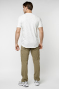 Оптом Мужская футболка с надписью белого цвета 222006Bl в Екатеринбурге, фото 6