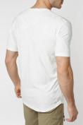 Оптом Мужская футболка с надписью белого цвета 222006Bl в Екатеринбурге, фото 7
