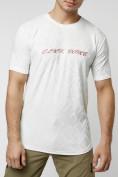 Оптом Мужская футболка с надписью белого цвета 222006Bl в Екатеринбурге, фото 8