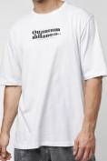 Оптом Футболка оверсайз белого цвета 224023Bl в Екатеринбурге, фото 4
