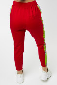 Оптом Брюки зауженные женские красного цвета 226620Kr в Екатеринбурге, фото 3
