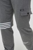 Оптом Трикотажные брюки мужские темно-серого цвета 2269TC, фото 6