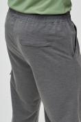 Оптом Трикотажные брюки мужские темно-серого цвета 2269TC, фото 7