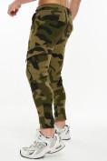 Оптом Трикотажные брюки зауженные камуфляжного цвета 227001Kf в Екатеринбурге, фото 4
