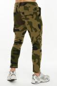 Оптом Трикотажные брюки зауженные камуфляжного цвета 227001Kf в Екатеринбурге, фото 5