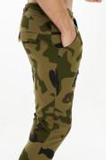 Оптом Трикотажные брюки зауженные камуфляжного цвета 227001Kf в Екатеринбурге, фото 7