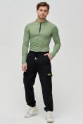 Оптом Трикотажные брюки мужские черного цвета 2286Ch, фото 2