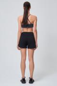 Оптом Спортивные женские шорты big size черного цвета 212311Ch, фото 7