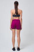 Оптом Спортивные женские шорты big size малинового цвета 212311M, фото 7