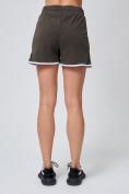 Оптом Спортивные женские шорты big size цвета хаки 212312Kh, фото 4