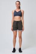 Оптом Спортивные женские шорты big size цвета хаки 212312Kh, фото 6