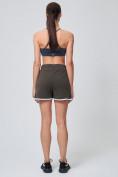 Оптом Спортивные женские шорты big size цвета хаки 212312Kh, фото 7