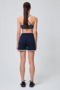Оптом Спортивные женские шорты big size темно-синего цвета 212312TS, фото 7
