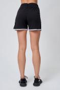 Оптом Спортивные женские шорты big size черного цвета 212312Ch, фото 4