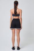 Оптом Спортивные женские шорты big size черного цвета 212312Ch, фото 7
