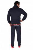 Оптом Спортивный трикотажный костюм мужской темно-синего цвета 231558TS, фото 4