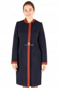 Оптом Пальто женское темно-синего цвета 288TS, фото 2