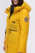 Оптом Куртка удлиненная  TRENDS SPORT горчичного цвета 22297G, фото 11
